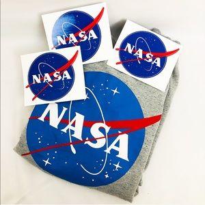 NASA | Grey sweater with NASA logo + 3 stickers